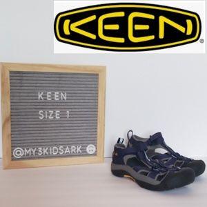 🆕️🌊NWOT Keen Boys Water Sandals, Blue/Gre664 sz1